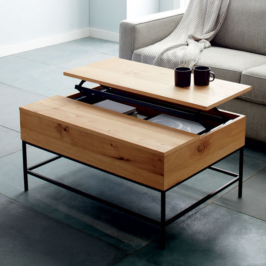 West Elm Industrial Storage Coffee Table Furnished Reviews