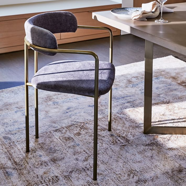 West Elm Lenox Velvet Dining Chair Review Furnished Reviews