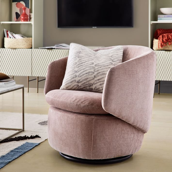 Enjoyable West Elm Crescent Swivel Chair Review Furnished Reviews Short Links Chair Design For Home Short Linksinfo