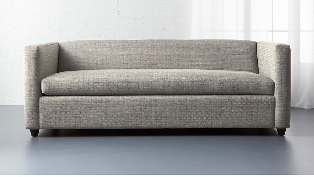 Cb2 Movie Salt And Pepper Sleeper Sofa Review Furnished